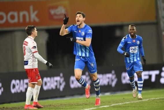 AA Gent mag voorzichtig naar boven kijken na 4-0-zege tegen Moeskroen