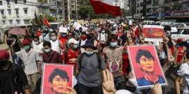 Grootschalige manifestaties tegen staatsgreep in Myanmar
