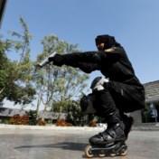 Politiekorps rolt criminelen op rolschaatsen achterna