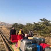 Russische diplomaten duwen zich per spoorwegkar Noord-Korea uit