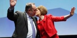 Laag gevecht in Schotse hooglanden
