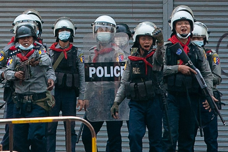 Protest Myanmar: zondag 'minstens achttien mensen gedood', volgens VN