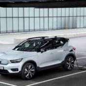 Elektrische auto sprint vooruit