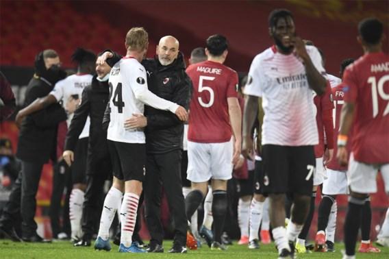 Late goal helpt AC Milan aan verdiend gelijkspel tegen Manchester United
