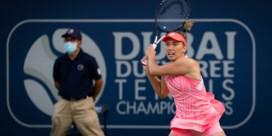 Elise Mertens strandt in halve finales in Dubai
