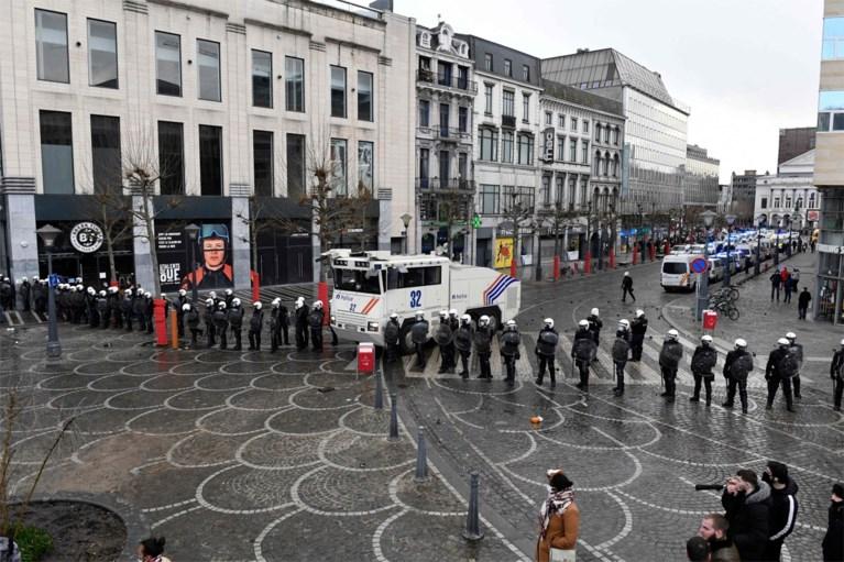 Zware rellen in Luik na betoging: meerdere relschoppers opgepakt