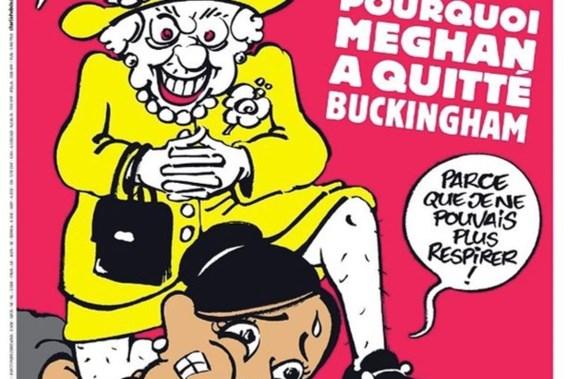 Charlie Hebdo onder vuur na cartoon over Meghan Markle
