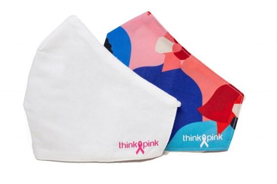 Onderzoek naar materiaal Think Pink-mondmaskers