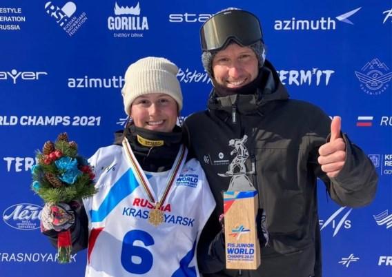 Evy Poppe wint goud op WK snowboard voor junioren