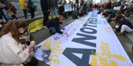 Klimaatjongeren nemen stukje Wetstraat over