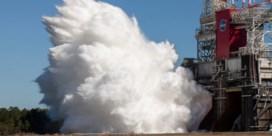 Nasa houdt geslaagde test met motoren van SLS-draagraket