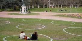 Nu ook krijtcirkels in Gentse parken: 'Alles veilig laten verlopen'