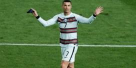 Cristiano Ronaldo stapt boos het veld af na afgekeurd doelpunt