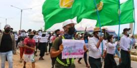 Al 12.000 burgers op de vlucht na bombardementen in Myanmar