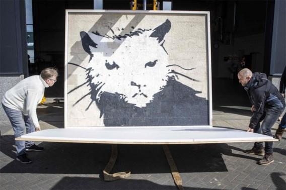 Kolossale muurschildering Banksy naar Nederland gebracht voor veiling