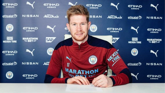 Kevin De Bruyne tekent nieuw contract tot 2025 bij Manchester City