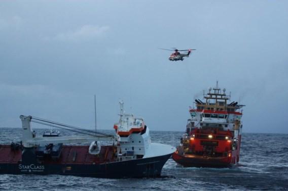 Stuurloos Nederlands schip in Noorwegen beveiligd