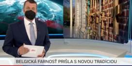Kruisjeshek aan Vlaamse kerk haalt Slovaakse tv: 'Dacht aan 1 aprilgrap'