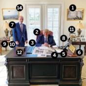 Alsof hij nog in het Witte Huis zit