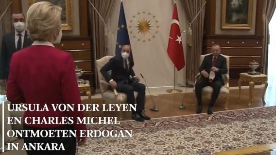 Ophef na vernedering Von der Leyen bij Erdogan: 'Gemiste kans voor Charles Michel'