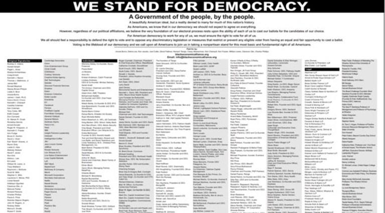 Amerikaanse bedrijven en beroemdheden ondertekenen verzet tegen controversiële kieswetten