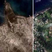 Satellietbeelden tonen schade na zware vulkaanuitbarsting op Saint Vincent