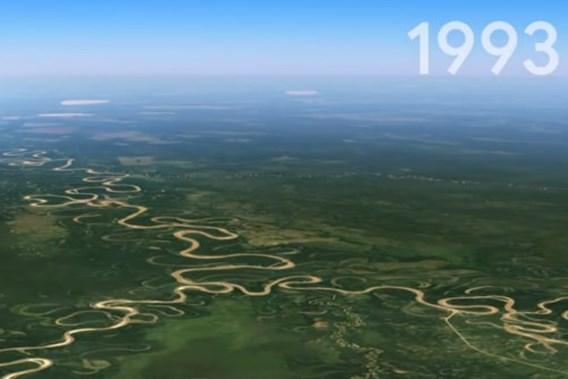 Nieuwe functie van Google Earth laat je terugkijken in de tijd
