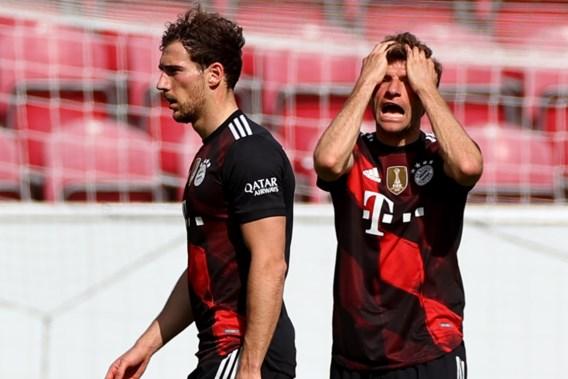 Zwak Bayern moet titelfeest nog even uitstellen na nederlaag