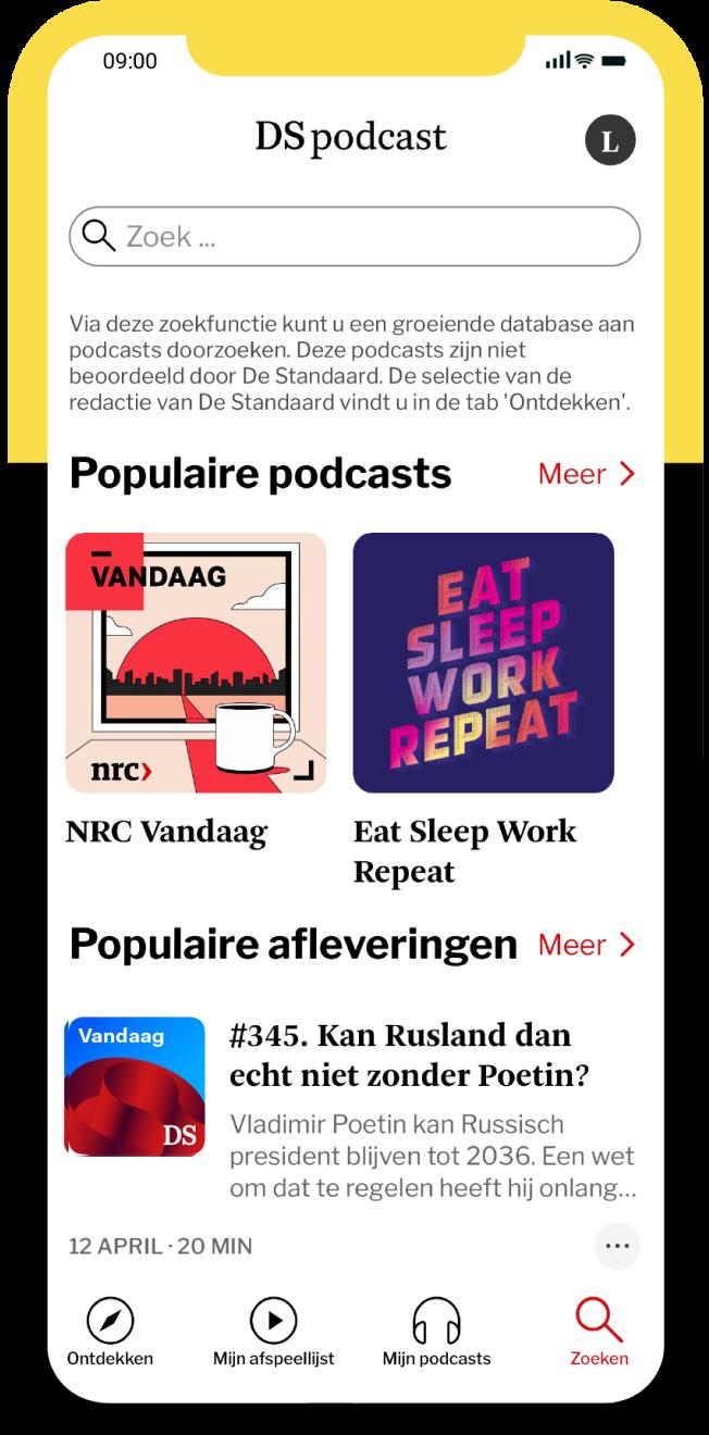 DS Podcast zoekfunctie