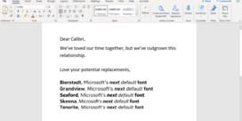 Microsoft zoekt nieuw lettertype voor Office