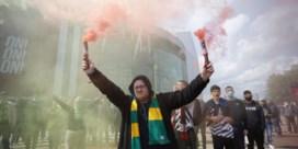 Geen titelfeest, wel supportersprotest