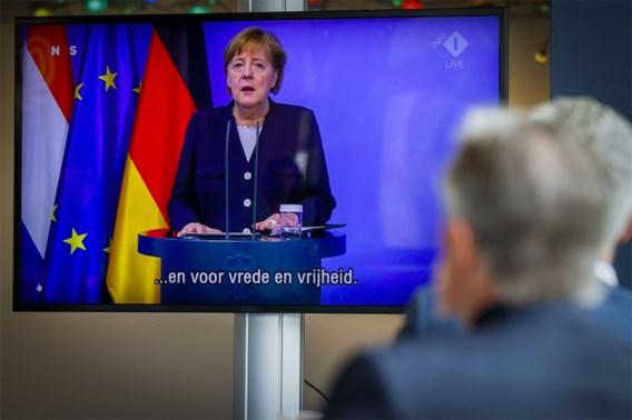 Merkel 'deemoedig' in lezing voor Nederlandse Bevrijdingsdag