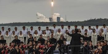 Orkest voorziet raketlancering van indrukwekkende muzikale noot