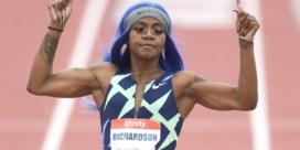 Flamboyante Amerikaanse sprintster Sha'Carri Richardson zet fantastische tijden neer op 100 meter
