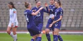 Anderlecht voor vierde opeenvolgende keer kampioen in Women's Super League