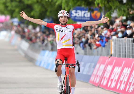 Campenaerts toont zich maar Fransman Victor Lafay wint achtste rit Giro