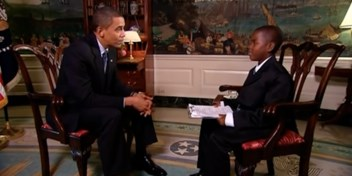 Damon Weaver, die als 11-jarige Obama interviewde, is overleden (23)