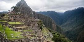 Beren profiteren van rust op Machu Picchu