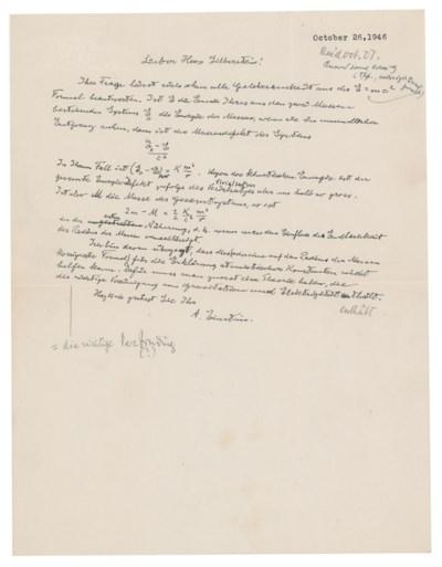 Handgeschreven brief Albert Einstein levert 1,2 miljoen euro op