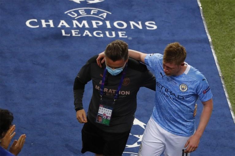 Kevin De Bruyne na botsing in tranen van het veld tijdens Champions League-finale