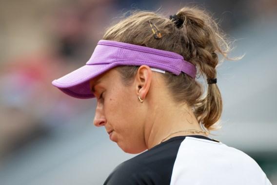 Elise Mertens ondanks zeven matchpunten ook uitgeschakeld in dubbelspel