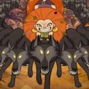 Wolvenmeisjes met haar op hun tanden