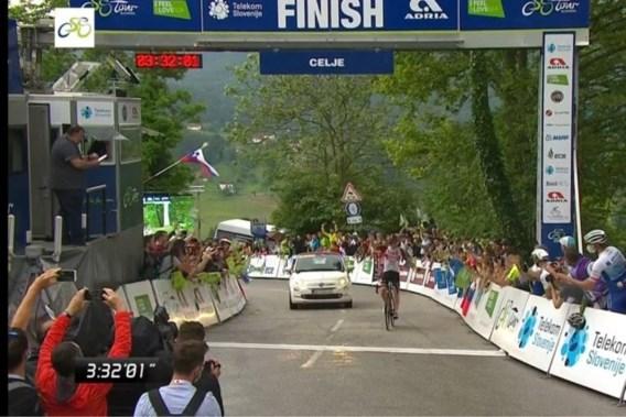 Tadej Pogacar loodst Diego Ulissi naar ritzege in Ronde van Slovenië