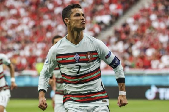 Portugal maakt Hongarije af in slotminuten, Ronaldo treft twee keer raak
