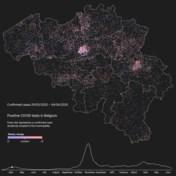 Alle Belgische coronabesmettingen sinds begin crisis tot nu in kaart