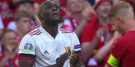 Emotionele Lukaku applaudisseert voor Eriksen tijdens match tegen Denemarken