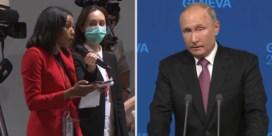 Amerikaanse journaliste confronteert Poetin: 'Waar bent u zo bang van?'