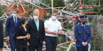 Alle vijf lichamen gevonden na instorting school in opbouw, koning Filip bezocht de plek van de ramp