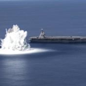 Amerikaans oorlogsschip getest met 18 ton explosieven