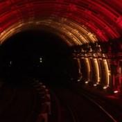 Brusselse metro trakteert pendelaars op lichtshow